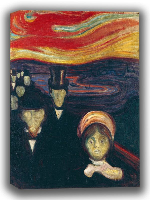Munch, Edvard: Anxiety. Fine Art Canvas. Sizes: A4/A3/A2/A1 (0073)